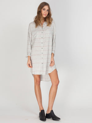 VOYAGE DRESS - HEATHER GREY STRIPE - GF175-8228 - 1.jpg