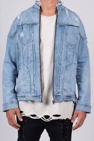 Kollar | Distressed Denim Jacket Blue | Uptown Woods