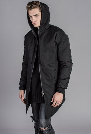 The Heavyduty Longline Jacket - Black