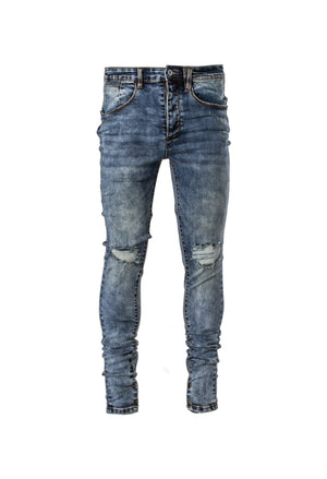 Snap Denim - Acid Blue