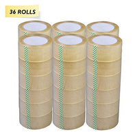 "Yens® 36 Rolls 2"" Clear Tape 110 yard 330 ft Carton Sealing Clear Packing Tape"