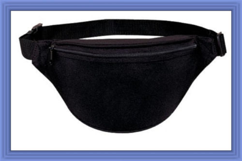 Fantasybag Black 2-Zipper Fanny Pack