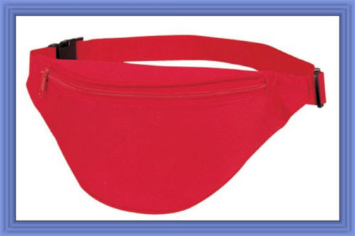 Fantasybag Red 2-Zipper Fanny Pack