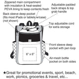 "Yens ""Accent"" 18 Cans Cooler Backpack 6CP-252"