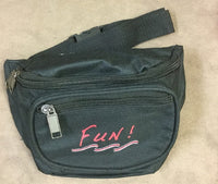 Yens 3 Zippered Fanny Pack w/Fun Logo, FN-03F (Black)