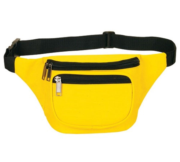 Yens Fantasybag 3-Zipper Fanny Pack  FN-03 Yellow