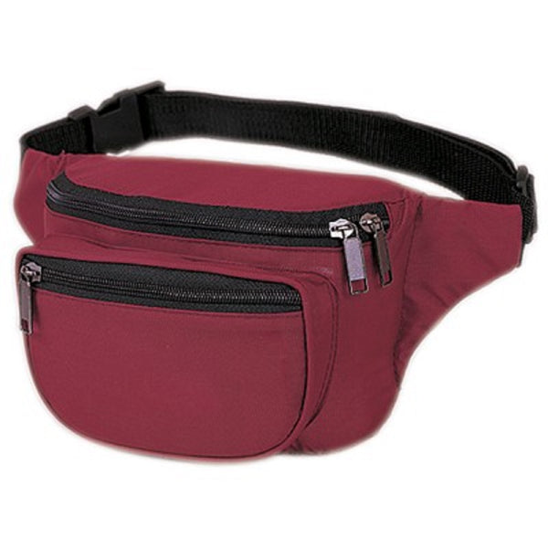 Yens Fantasybag 3-Zipper Fanny Pack  FN-03 Burgundy