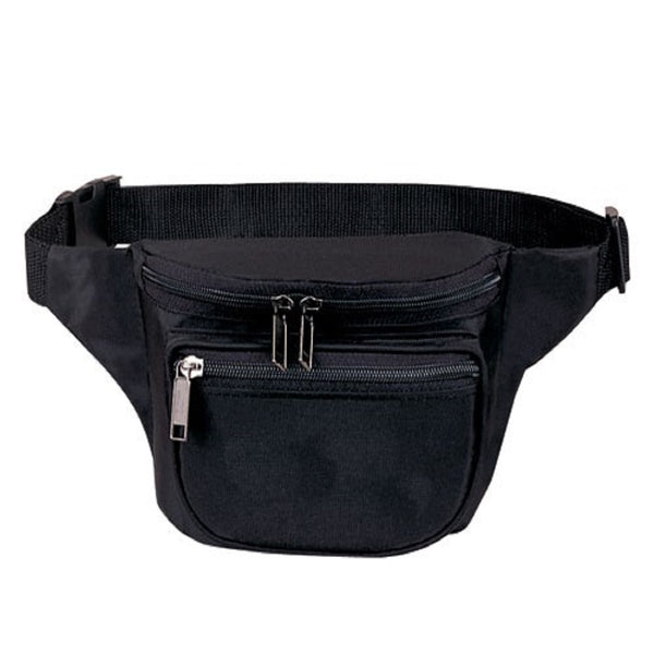 Yens Fantasybag 3-Zipper Fanny Pack  FN-03 Black