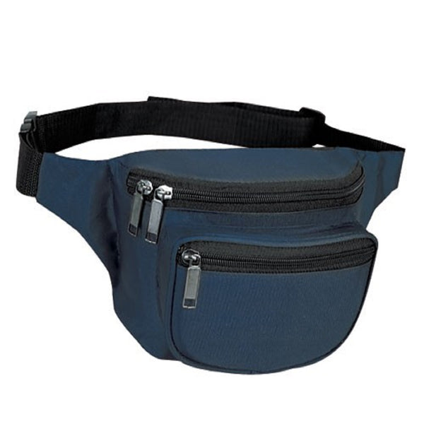 Yens Fantasybag 3-Zipper Fanny Pack  FN-03 Navy Blue