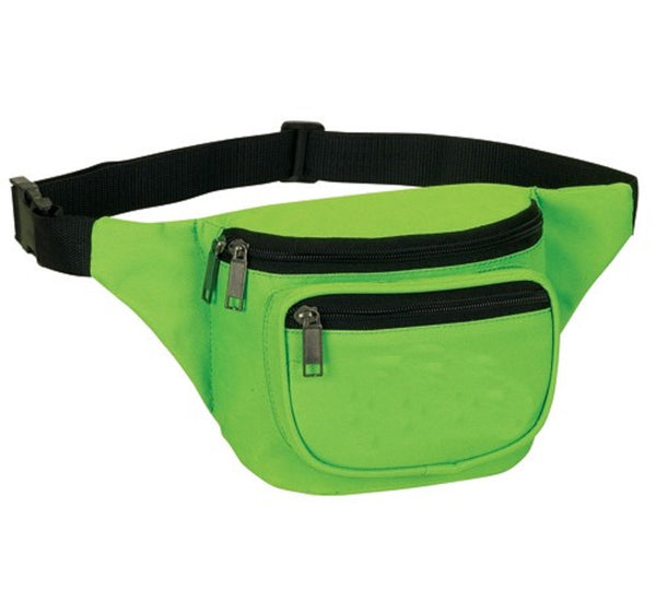 Yens Fantasybag 3-Zipper Fanny Pack  FN-03 Neon Green