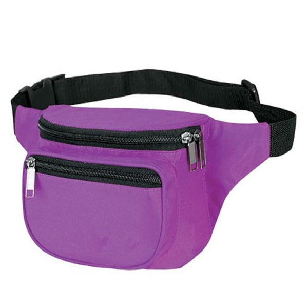 Yens Fantasybag 3-Zipper Fanny Pack  FN-03 Purple