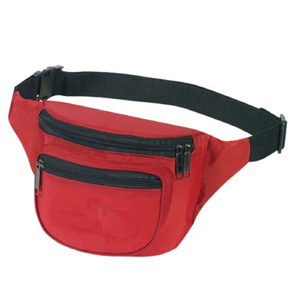 Yens Fantasybag 3-Zipper Fanny Pack  FN-03 Red