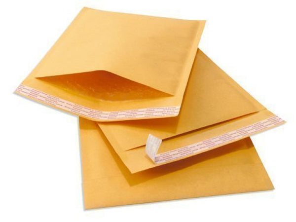 Yens® 100 #000 Kraft Bubble Padded Envelopes Mailers 4 X 8