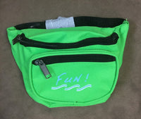 Yens 3 Zippered Fanny Pack w/Fun Logo, FN-03F (Neon Green)