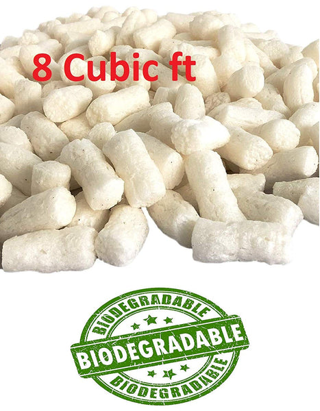 Yens Biodegradable White Packaging Peanuts 60 Gallons 8 Cubic Feet to Protect Our Earth