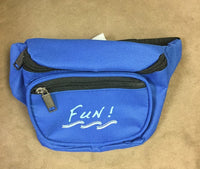 Yens 3 Zippered Fanny Pack w/Fun Logo, FN-03F (Royal Blue)