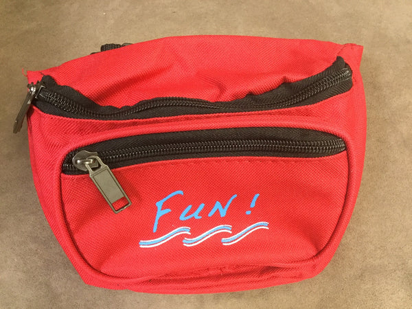 Yens 3 Zippered Fanny Pack w/Fun Logo, FN-03F (Red)