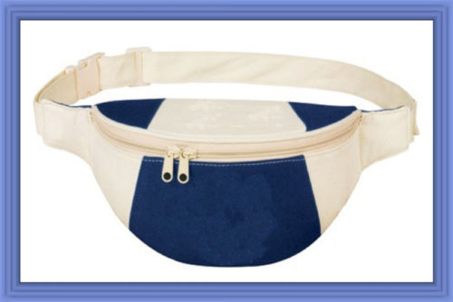 Fantasybag Navy Blue Eco-Green Fanny Pack