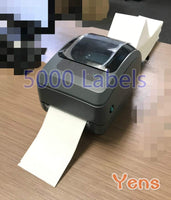 "Yens Fanfold 4"" x 6"" Direct Thermal Labels, 5000 Labels Total, for Thermal Printers"