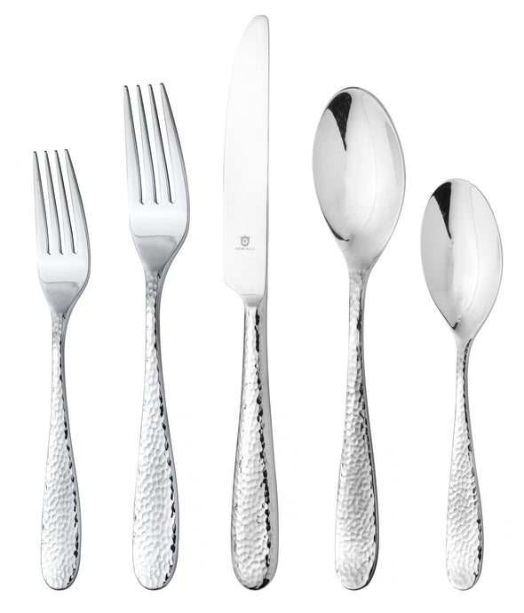 Fidenza Hammered 60-Piece (Long)