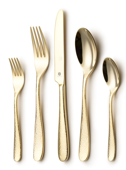 The Hammered Entirely Gold 5-Piece