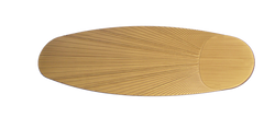 Tan leaf ceiling fan blade