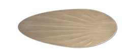 Distressed White Palm Pattern Blades