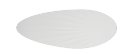 Pure White Palm Pattern Blades