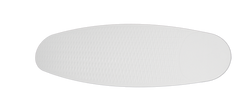 Pure white wicker ceiling fan blade