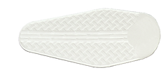 Pure white weave ceiling fan blade