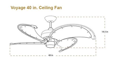 Voyage ceiling fan dimensions