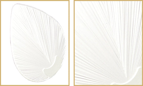 Pure white bombay ceiling fan blades