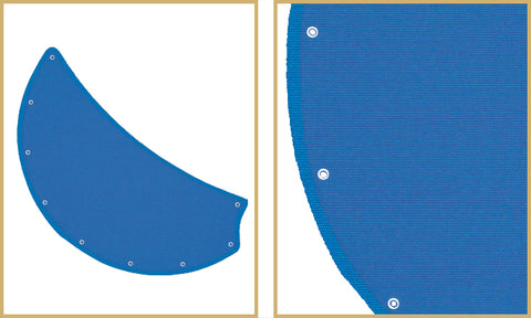 Pacific Blue Sunbrella custom canvas nautical blades