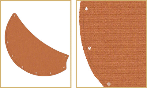 Sunbrella Rust canvas nautical blades