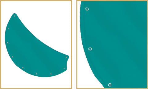 Custome Nauticla Blades Color: Aquamarine Sunbrella Fabric Code: 4623-0000