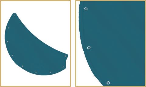 Turquoise sunbrella canvas nautical blades