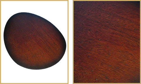 Distressed walnut blades for double ceiling fan