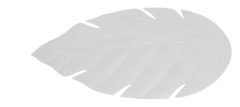 Venetian pure white ceiling fan blade