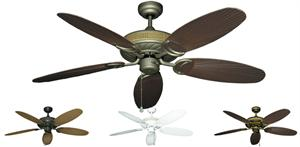 52 inch Atlantis - Leaf or Wicker Style Reversible Blades - tropical-fan-company