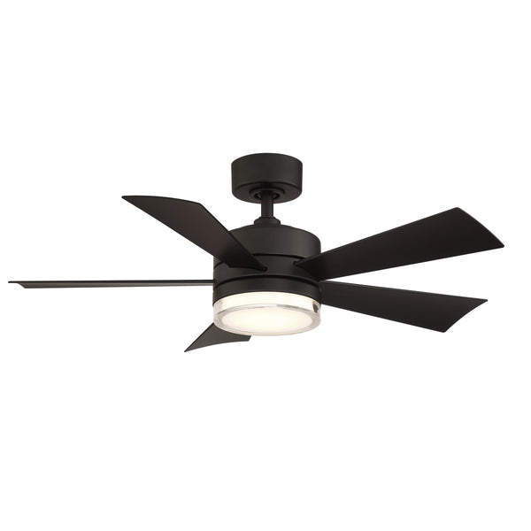 42 inch Wynd Ceiling Fan - Matte Black Finish with light