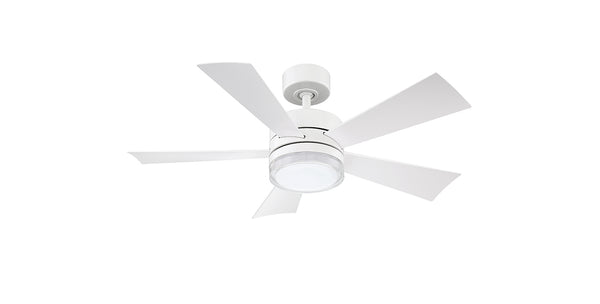 42 inch Wynd Ceiling Fan - Matte White Finish with light