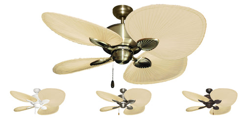 48 inch Palm Breeze II Ceiling Fan with Natural Palm Blades - tropical-fan-company