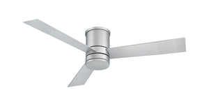 52 inch Axis Flush Mount Ceiling Fan - Titanium Silver Finish