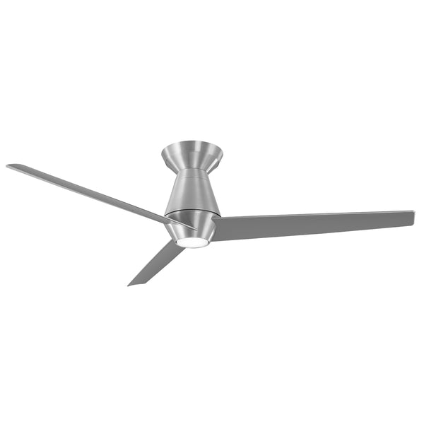 52 inch Slim Flush Ceiling Fan - Brushed Aluminum Finish