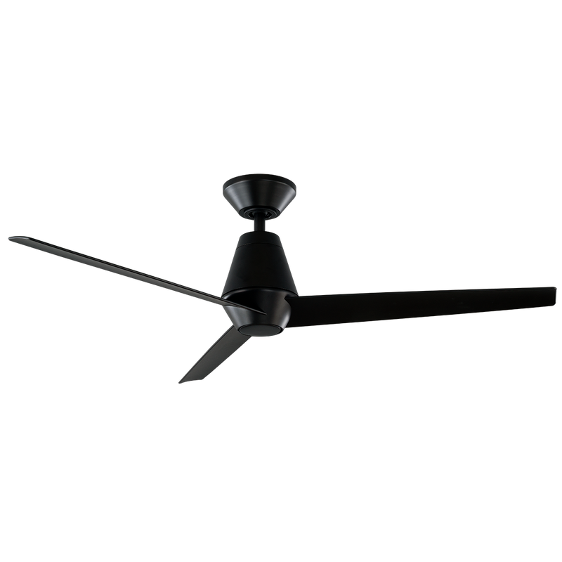 52 inch Slim Ceiling Fan - Matte Black Finish