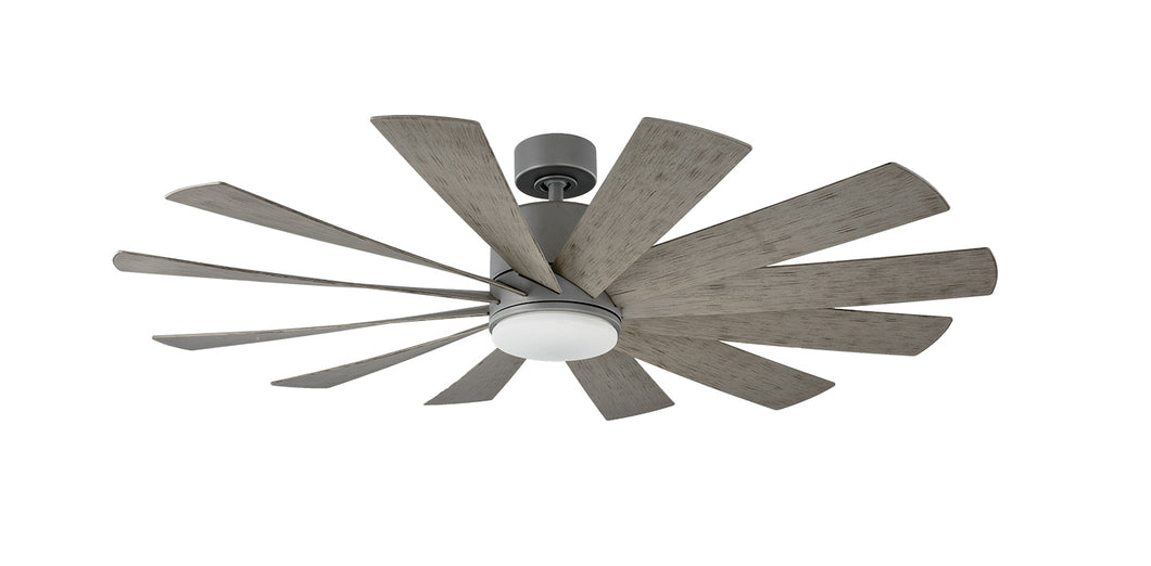60 inch Windflower Ceiling Fan - Graphite Finish with light