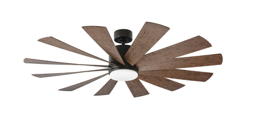 60 inch Windflower Ceiling Fan - Oil Rubbed Bronze Finish with light