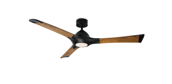 60 inch Woody Ceiling Fan - Matte Black Finish