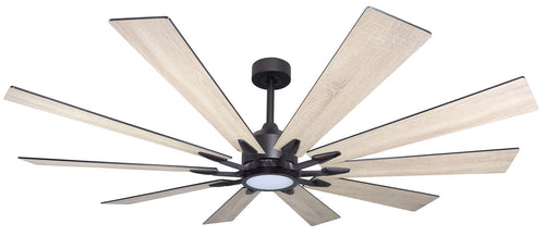 66 inch Fusion - Oil Rubbed Bronze with Beachwood Blades with LED light