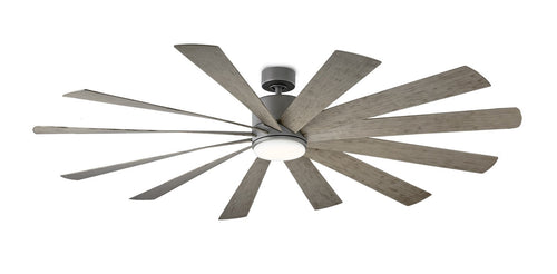 80 inch Windflower Ceiling Fan - Graphite Finish with light